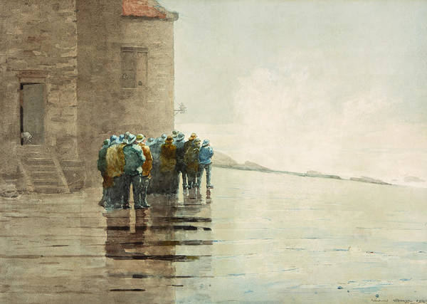 Brigade Drawing - The Life Brigade by Winslow Homer