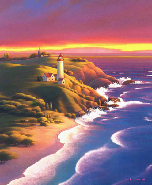 Painting - The Light House  by Robin Moline