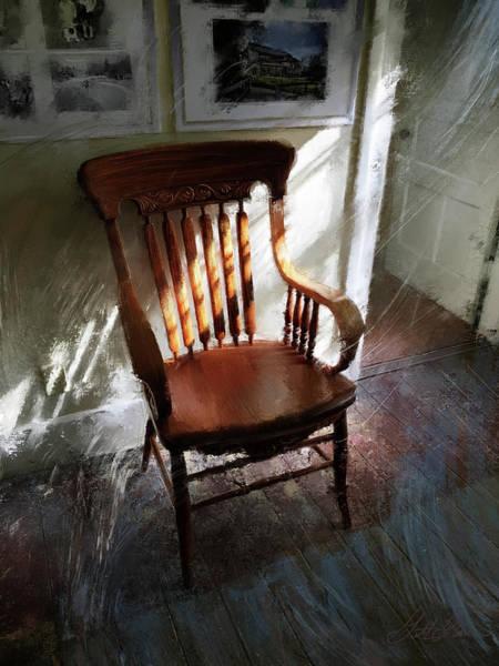 Wall Art - Digital Art - The Light Keeper's Chair by Garth Glazier