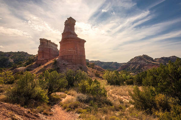 Wall Art - Photograph - The Lighthouse - Palo Duro Canyon Texas by Brian Harig