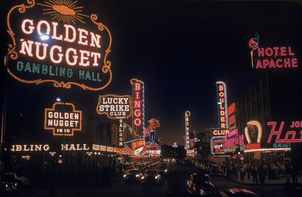 Photograph - The Lights Of Fremont Street by Loomis Dean