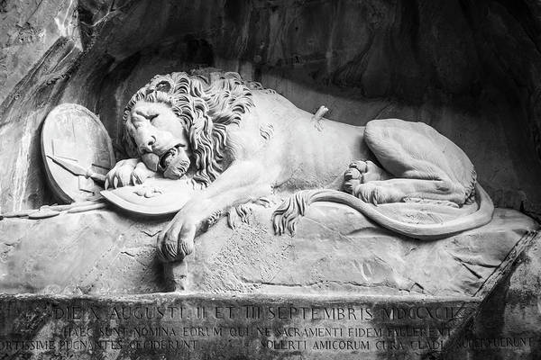 Photograph - The Lion Of Lucerne by Mary Lee Dereske