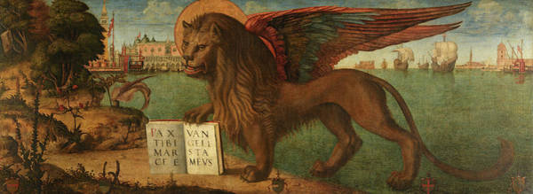 Balance Painting - The Lion Of Saint Mark, 1516 by Vittore Carpaccio