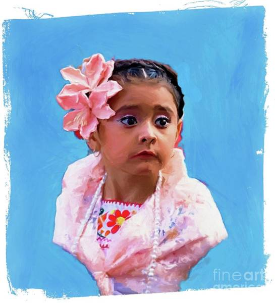 Digital Art - The Little Girl by John Kolenberg