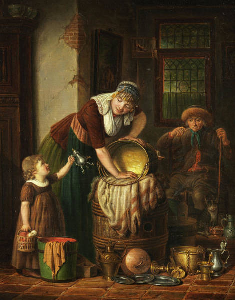 Wall Art - Painting - The Little Help by Johannes Petrus van Horstok