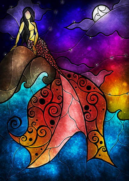 Mixed Media - The Little Mermaid by Mandie Manzano
