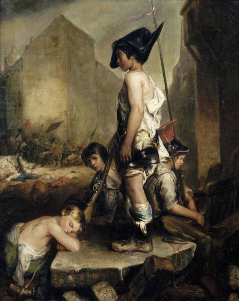 Wall Art - Painting - The Little Patriots, 1831 by Philippe-Auguste Jeanron