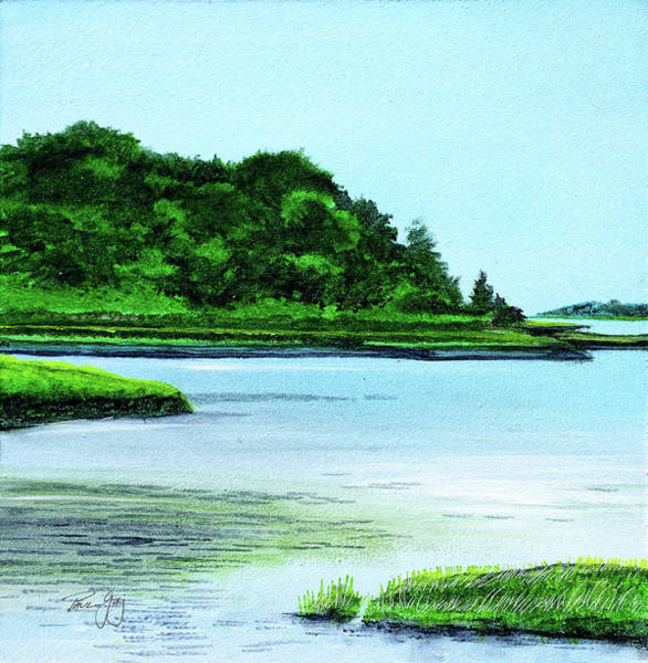 Painting - The Little River Gloucester, Ma by Paul Gaj
