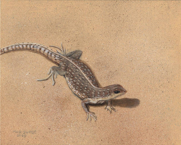 Wall Art - Painting - The Lizard Of Ahs by Mark Junge