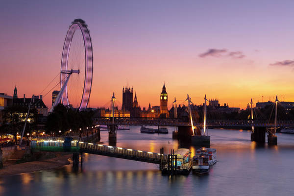 Parliament Building Photograph - The London Eye & The Houses Of by Douglas Pearson