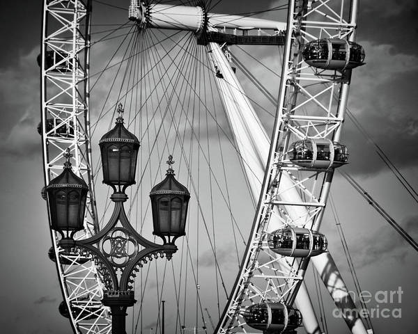London Eye Photograph - The London Eye by Delphimages Photo Creations