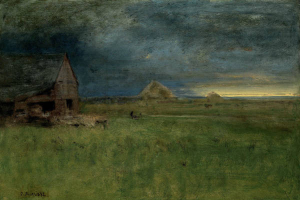 Wall Art - Painting - The Lonely Farm, Nantucket by George Inness