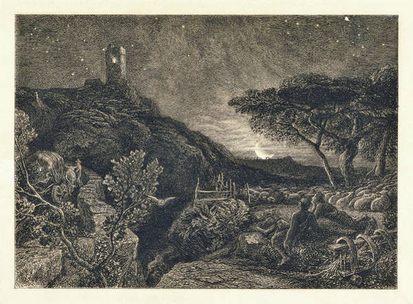 Wall Art - Painting - The Lonely Tower - Digital Remastered Edition by Samuel Palmer