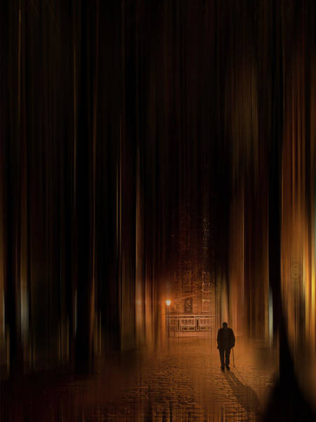City Scape Digital Art - The Lonely Walk by Tim Palmer