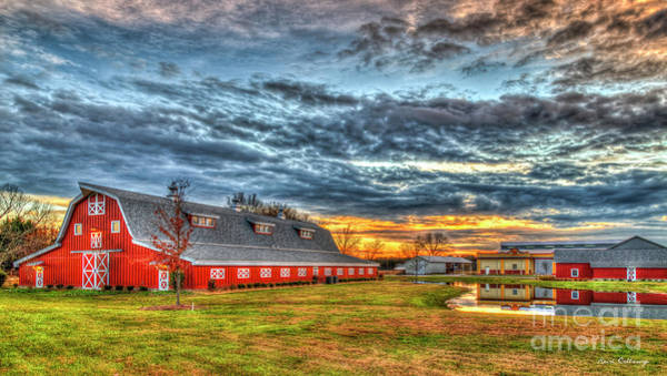 Photograph - The Long Red Barn Oconee County Farming Art by Reid Callaway