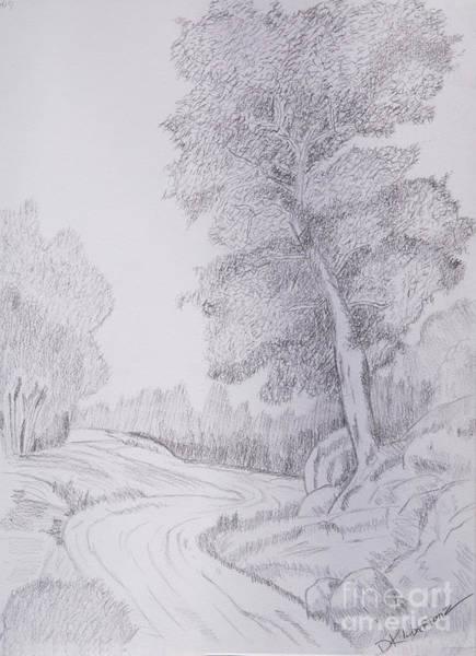Wall Art - Drawing - The Long Way Home by Deborah Klubertanz