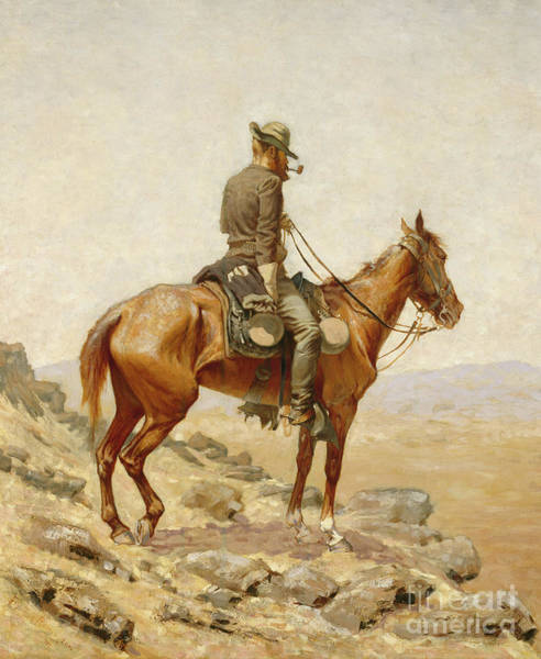 Wall Art - Painting - The Lookout, 1887  by Frederic Remington