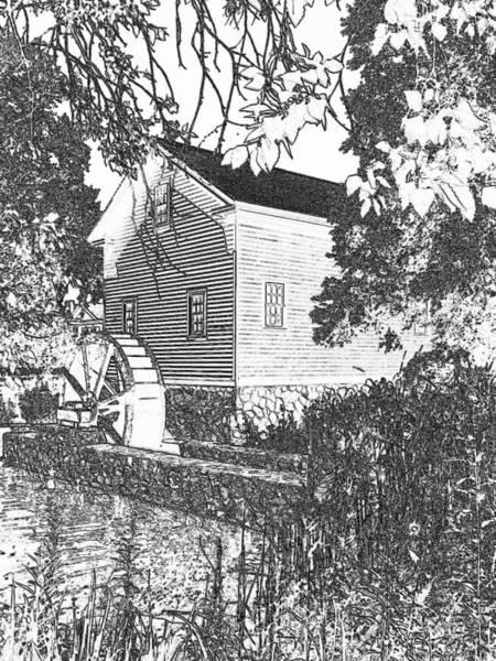 Wall Art - Photograph - The Loranger Grist Mill Dm by Daniel Thompson