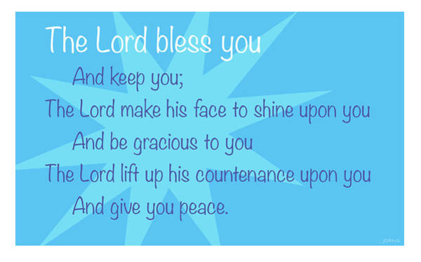 Wall Art - Digital Art - The Lord Bless You by Greg Joens