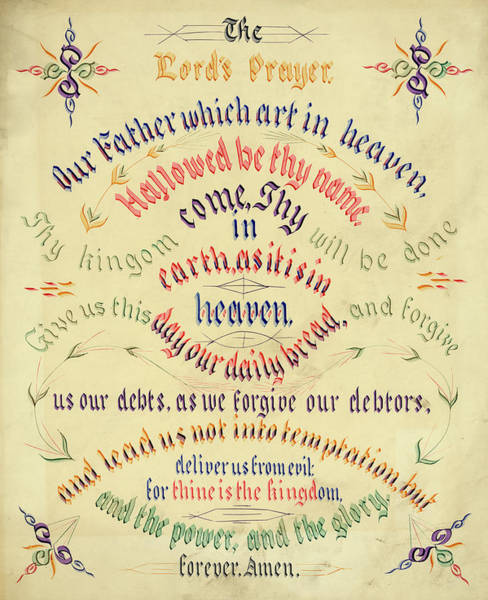 Wall Art - Painting - The Lord's Prayer by John Morgan Coaley
