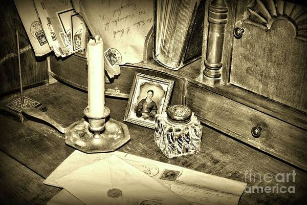 Wall Art - Photograph - The Lost Art Of Letter Writing Sepia by Paul Ward