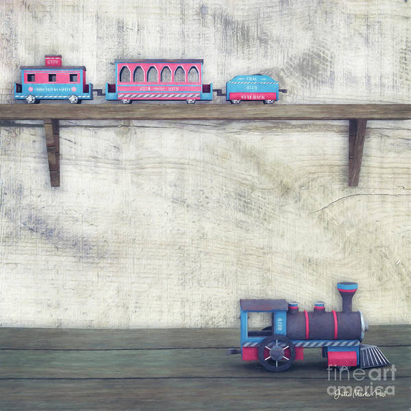 Digital Art - The Lost Engine by Jutta Maria Pusl