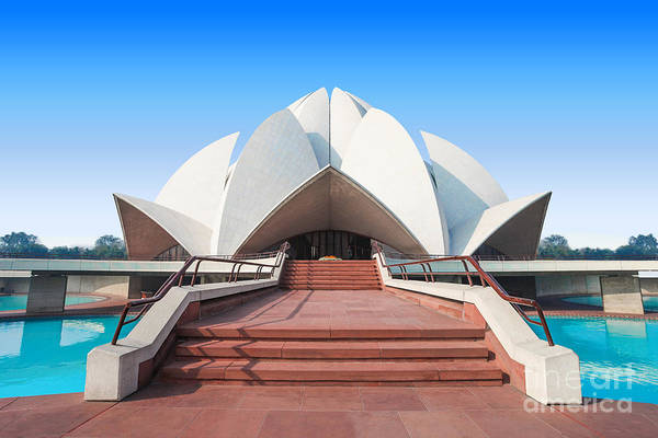 Wall Art - Photograph - The Lotus Temple, Located In New Delhi by Saiko3p