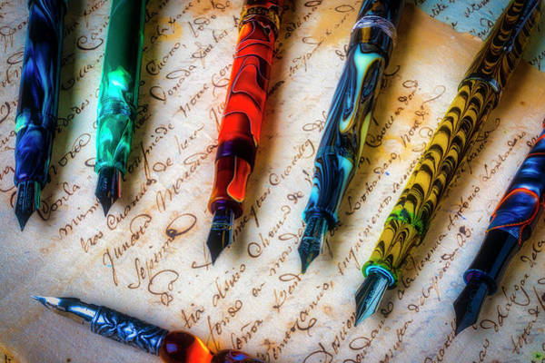 Wall Art - Photograph - The Love For Fountain Pens by Garry Gay