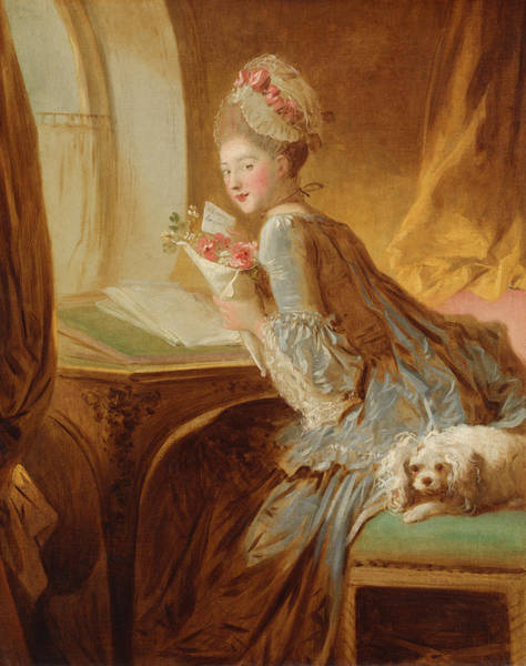 Painting - The Love Letter, Early 1770s by Jean-Honore Fragonard