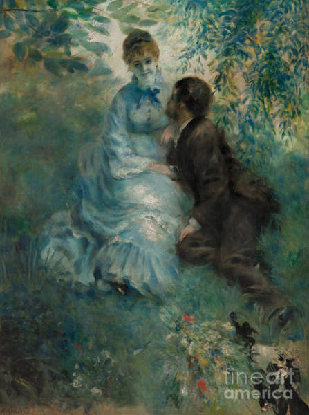 Wall Art - Painting - The Lovers, 1875 by Pierre Auguste Renoir