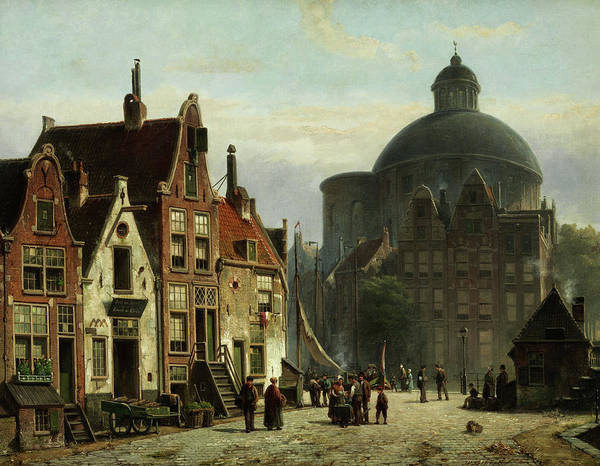 Wall Art - Painting - The Luther Church In Amsterdam View Of A Place by Willem Koekkoek