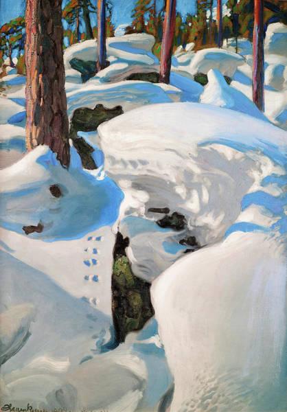 Wall Art - Painting - The Lynx Den - Digital Remastered Edition by Akseli Gallen-Kallela