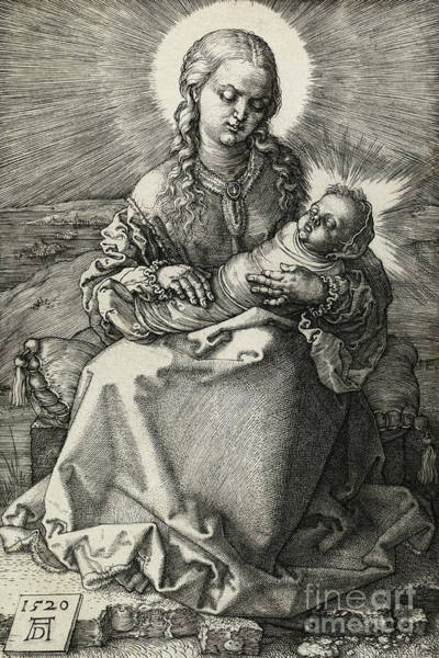 Wall Art - Drawing - The Madonna And Child In Swaddling, 1520 by Albrecht Durer
