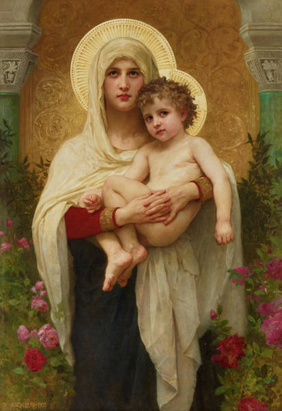 Wall Art - Painting - The Madonna Of The Roses, 1903 by William-Adolphe Bouguereau