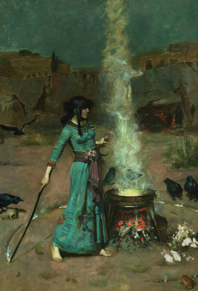 Wall Art - Painting - The Magic Circle, 1886 by John William Waterhouse