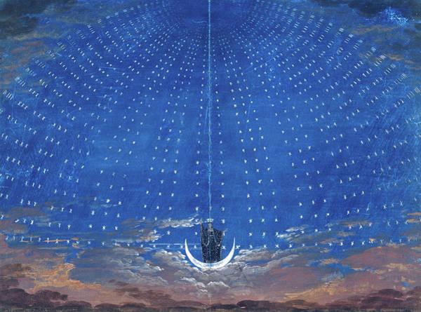 Wall Art - Painting - The Magic Flute Opera By Wolfgang Amadeus Mozart, 1815 by Karl Friedrich Schinkel