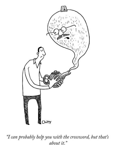Lamp Drawing - The Magic Lamp by Tom Chitty