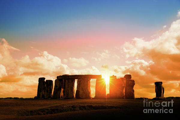Wall Art - Photograph - The Magic Of Stonehenge At Sunset by Delphimages Photo Creations
