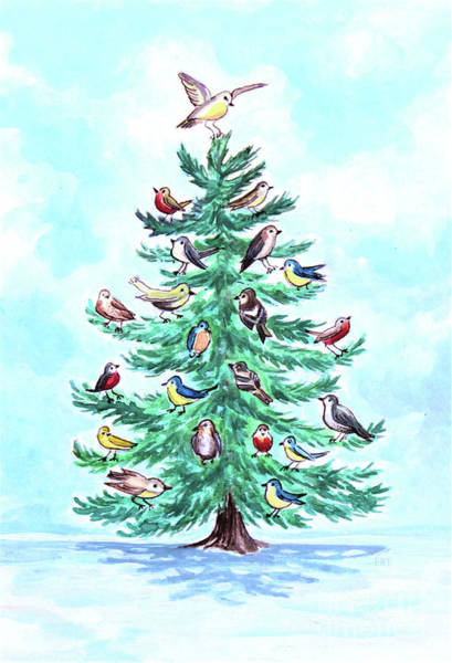Painting - The Magical Christmas Tree by Elizabeth Robinette Tyndall
