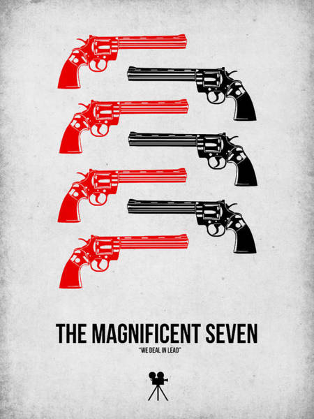 Wall Art - Digital Art - The Magnificent Seven by Naxart Studio