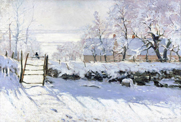 Wall Art - Painting - The Magpie - Digital Remastered Edition by Claude Monet