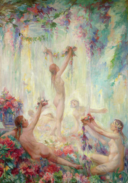 Wall Art - Painting - The Maidens Of Spring by Jean Ubaghs