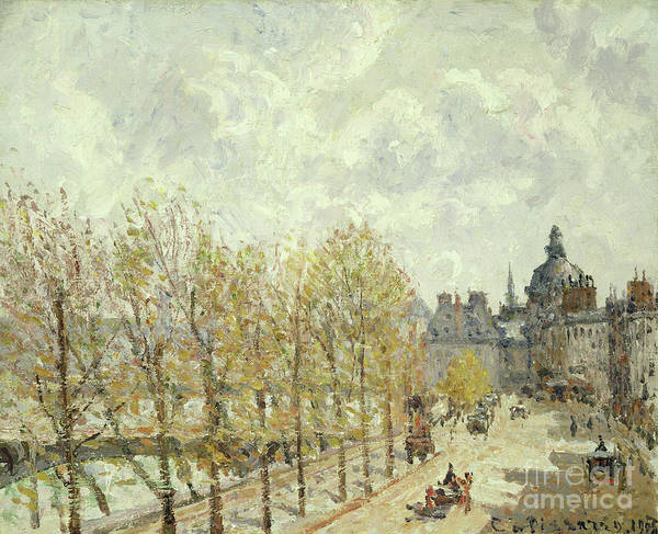 Wall Art - Painting - The Malaquais Quay In The Morning, Sunny Weather, 1903 by Camille Pissarro