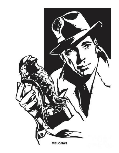 Bogart Digital Art - The Maltese Falcon by Peter Melonas