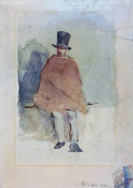 Wall Art - Painting - The Man In The Tall Hat - Digital Remastered Edition by Edouard Manet
