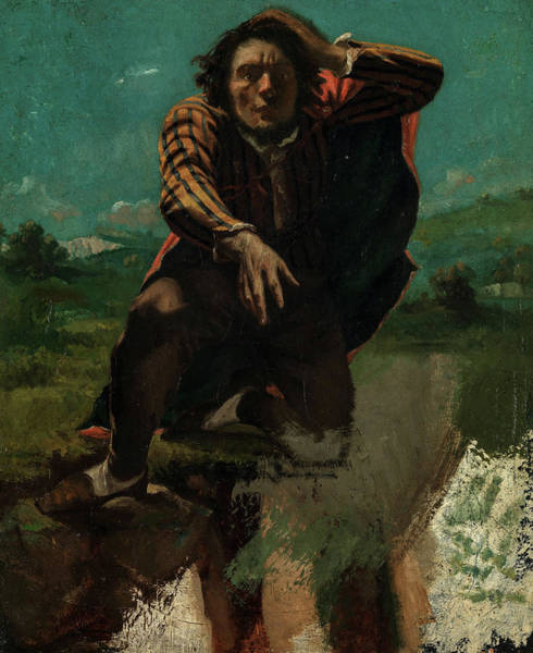 Wall Art - Painting - The Man Made Mad With Fear, 1844 by Gustave Courbet