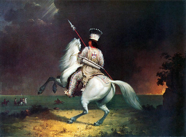 Wall Art - Painting - The Man That Always Rides, Native by Science Source