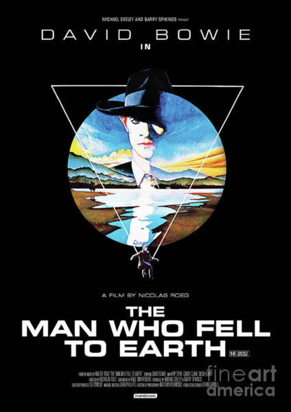 Mixed Media - The Man Who Fell To Earth 1976 by Kultur Arts Studios