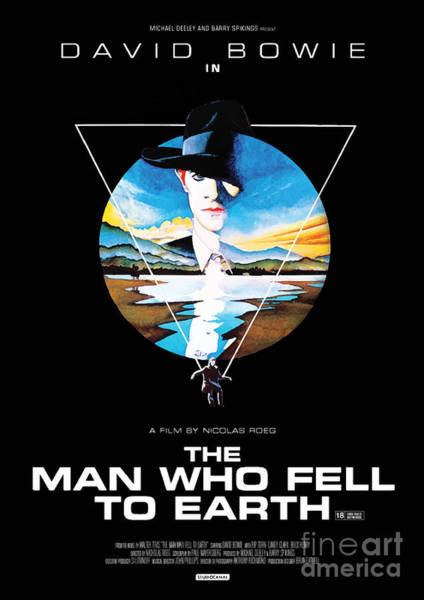 Spider Rock Mixed Media - The Man Who Fell To Earth 1976 by Kultur Arts