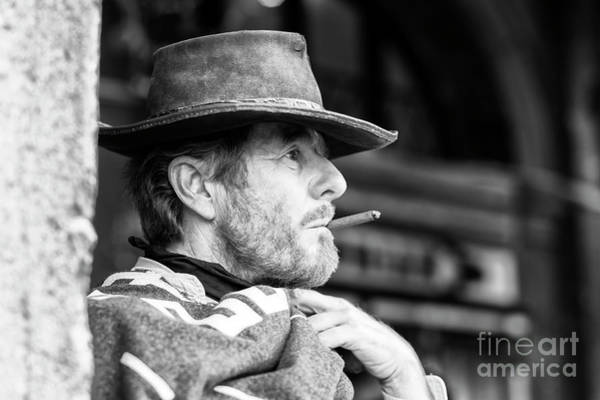 Hats For Sale Photograph - The Man With No Name In Venice by John Rizzuto